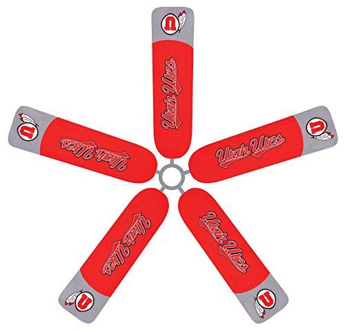 Fan Blade Designs University of Utah Utes Ceiling Fan Blade Covers by Fan Blade Designs