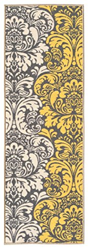 Custom Yellow Floral Non Slip Hallway