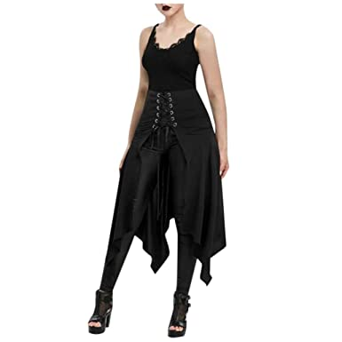 Vestido Mujer Halloween, Falda Delantera De Corte Asimétrico ...