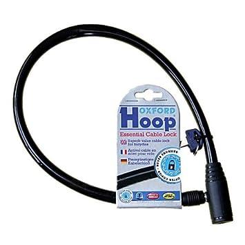 233ba5b9243 Oxford Hoop Essential Cable Lock - Black: Amazon.co.uk: Sports ...