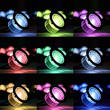 SET OF 10-30mm SMART WIFI RGB PATIO DECK PLINTH LIGHTS IP67 LED COLOUR CHANGING