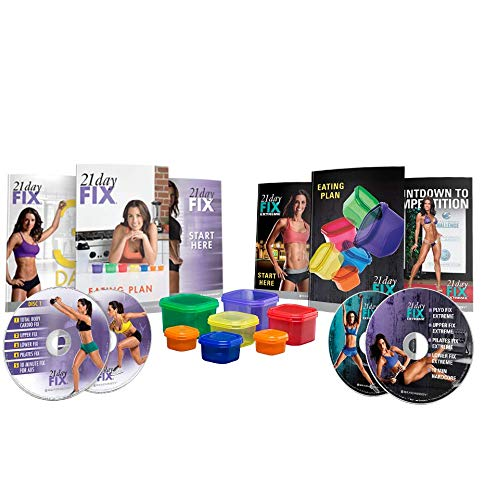 Beachbody 21 Day Fix & 21 Day Fix Extreme - Accessories + DVDs Bundle