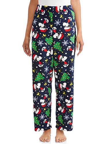 Women's Peanuts Snoopy Plush Fleece Sleep Pants (L 12/14)