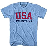USA Wrestling Ultras Soccer T-shirt, Athletic Blue, Adult Large