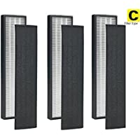 Pack of 3 - True HEPA Filter C for GermGuardian FLT5000 FLT5111 AC5000 Series