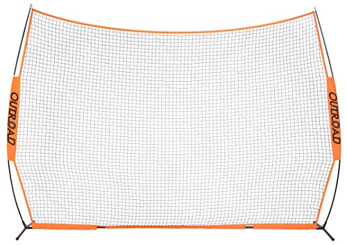 OUTROAD 12x9 FT Barrier Net - Portable Sports Barricade Practice Backstop Net w/ Carry Bag by OUTROAD