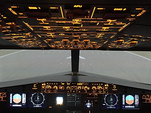 Home Comforts LAMINATED POSTER Airbus A320 Overhead Cockpit Simulator Poster 24x16 Adhesive (Airbus A320 Cockpit)