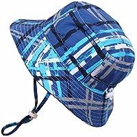 Baby 50+ UPF Bucket Sun Hat with Chin Strap, Size Adjustable Aqua Dry ( S: 0 ...