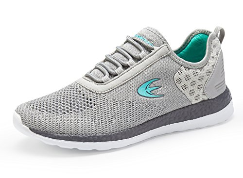 Ezywear Women's Running Shoe Athletic Shoe Sport Cross Trainer Shoe(7.5, Grey)