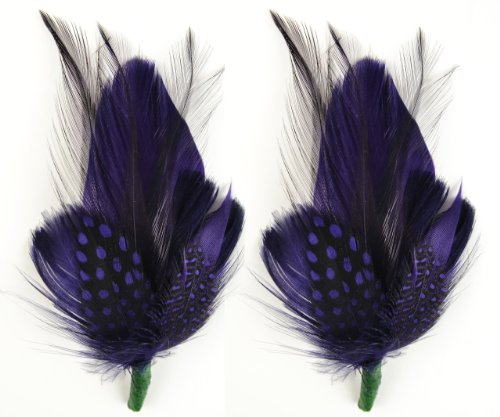 Touch of Nature 2-Piece Feather Pick with Nylon Loop for Arts and Crafts, 5 to 6-Inch, Deep Plum