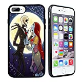 VONDER iPhone 7 Plus Case,The Nightmare Before Christmas Hybrid TPU PC Printed Cover with Aluminum Metal Phone Cases for iPhone 8 Plus