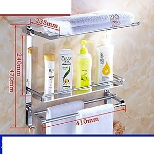Bathroom racks/the shelf in the bathroom/Stainless steel wall mount/Bathroom Bathroom Bathroom Storage rack/Towel shelf -L 60%OFF