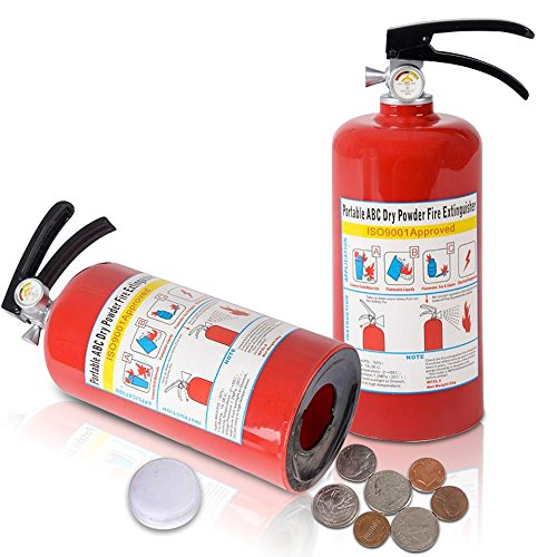 "ArtCreativity 8"" Fire Extinguisher Coin money Bank for Kids 