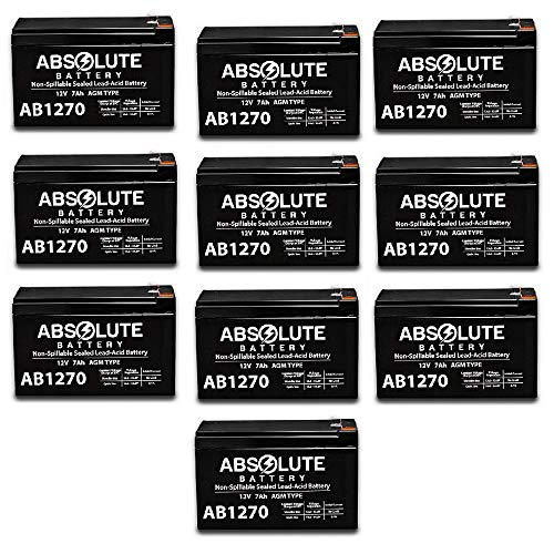 (10 Pack New 12V 7AH Battery Replacement for Powerware Patriot Blackout Buster)