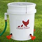 Automatic Poultry Bucket Watering Kit- Water Drinking Cups for Chickens w/float (2 Cups)