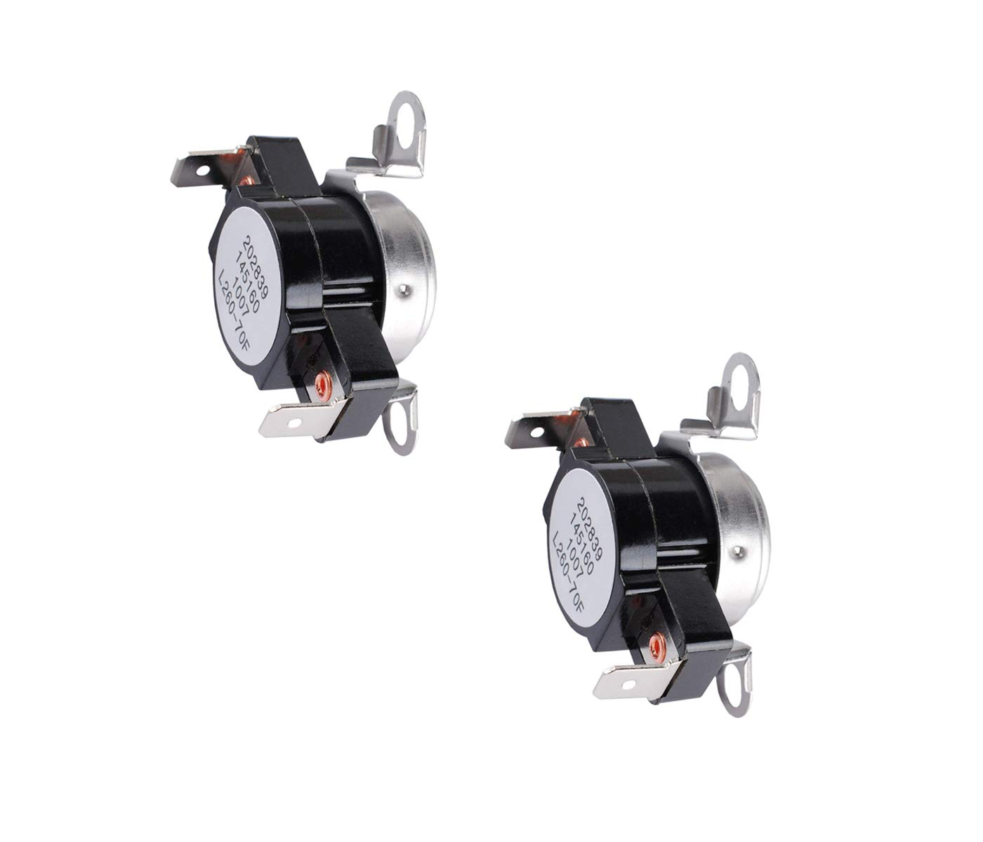 AP2131477 Dryer High-Limit Thermostat Compatible with Frigidaire Clothes Dryer,3204267 Safety Thermostat Replace 508516 AH446428 EA446428 PS446428 by Katofa Pack of 2