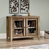 Sauder 418268 TV Stands, Furniture Dakota Pass Craftsman Oak Display Cabinet
