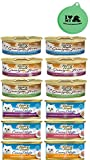 #4: Purina Fancy Creamy Delights & Gravy Lovers Wet Canned Cat Food Variety Pack - 6 Flavor Bundle, 3 Oz Each - Pack of 12 Plus Can Cover (13 Items Total)