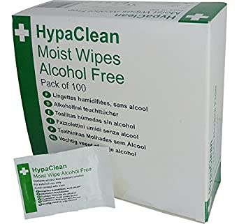 Moist Wipes Alcohol Free PK100