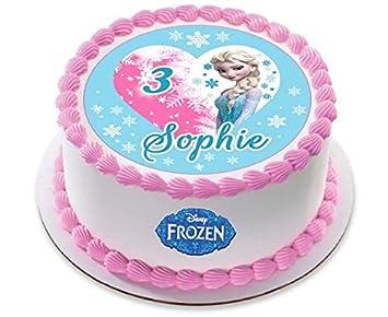 Disney Frozen Elsa Prinzessin Personalisierte Kuchen Topper