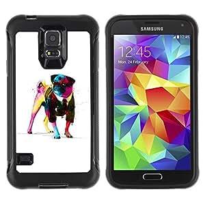 Suave TPU Caso Carcasa de Caucho Funda para Samsung Galaxy S5 SM-G900 / Awsome Gentleman Pug / STRONG