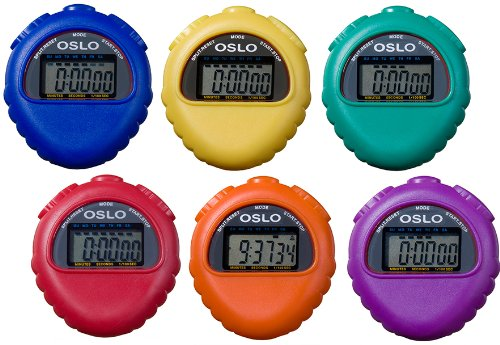 Oslo All Purpose Stopwatch 6 pack assortment