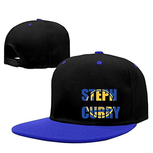 [Steph Curry Logo Unisex Cotton Adjustable Hip Hop Snapback Baseball Caps Trucker Hat RoyalBlue One Size Fits Most] (Logo Adjustable Cotton)