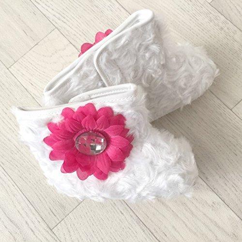 Flexibles Bottes Bébé, Modèle De Doublure Blanche Mois 6/9 3/6 Mois 9/12 Mois Blanc Blanc Taille: 9/12 Vevak