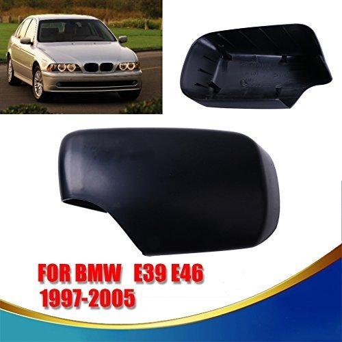 General Mega 1 PCS Left Door Mirror Cover Caps Trim Exterior Rearview Covering for 1997-2005 BMW E39 E46 Driver Side
