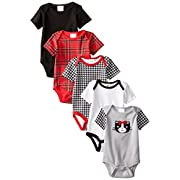 Baby Gear Baby-Girls Newborn 5 Pack Grow With Me Bodysuits Safari 0-3 Months/3-6 Months