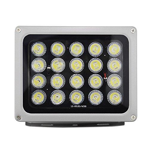 RISHIL WORLD 12V 20Pcs IR LEDs Array Illuminator Infrared Lamp IP65 850nm Waterproof Night Vision for CCTV Camera