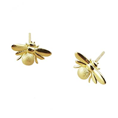 66db82d68 Nikita By Niki ® Bumble Bee Stud Earrings | Quality 925 Sterling Silver or  Gold Filled | Insect Jewellery For Women | Honey Queen Bee in Luxury Gift  Box: ...