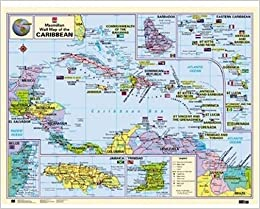 Macmillan Wall Map of the Caribbean Macmillan Caribbean Wall ...