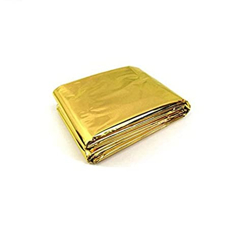 GOLD FOIL SPACE BLANKET EMERGENCY SURVIVAL BLANKET THERMAL FIRST AID CAMP