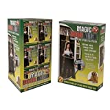 Magic Curtain Door Mesh Magnetic Fastening Hands Free Fly Bug Insect Screen (BLACK)