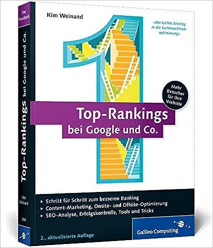 Cover des Buchs: Top-Rankings bei Google und Co.: Erfolgreiche Suchmaschinen-Optimierung (Galileo Computing)