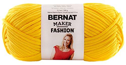 Bernat Maker Fashion Yarn (5) Bulky Gauge  - 3.5oz -  Yellow  -  Machine Wash & Dry For Crochet, Knitting & Crafting