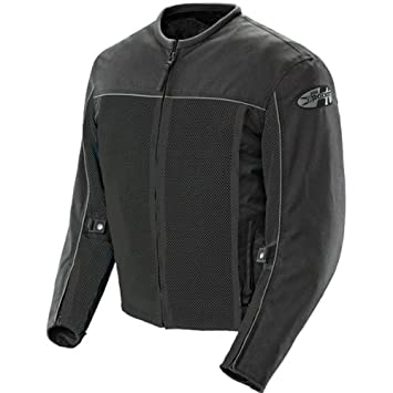 Joe Rocket Velocity Mens Mesh Riding Jacket (Black, Medium)