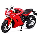 1:18 Ducati Motorcycle Model, Static Simulation Alloy Die-Casting Car, Pull Back Toy Model Car, Home Decoration, Collectibles, Gifts