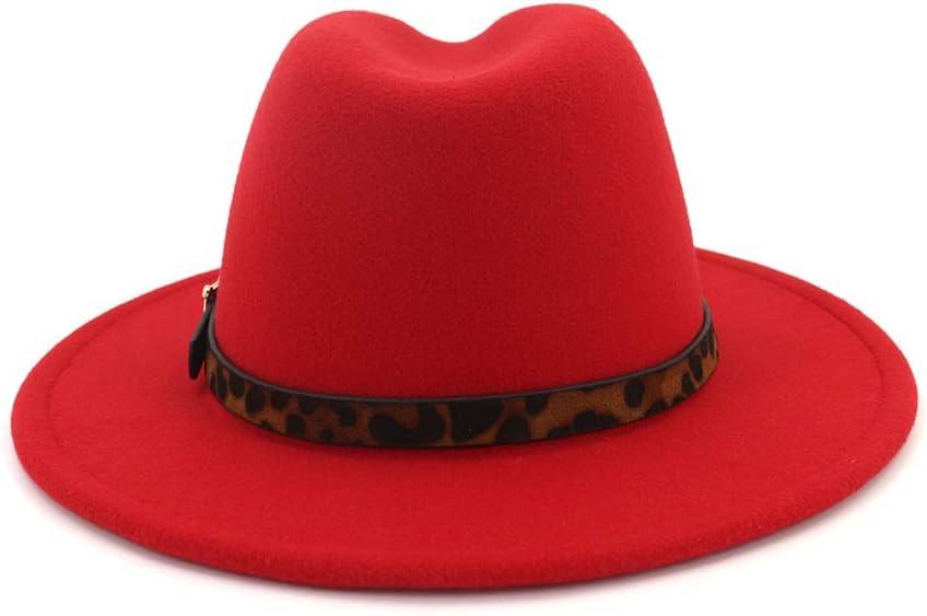 YUDING Sombreros de Fieltro Mujeres Hombres Fedora Lady Trilby ...