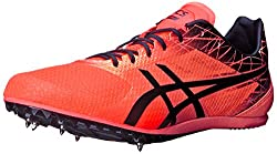 ASICS Men's Cosmoracer Md Track Shoe, Flash Coral/Black, 13 M US