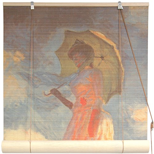 Oriental Furniture Girl With a Parasol Bamboo Blinds - (6...
