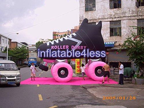 inflatable4less 20ft Inflatable Roller Skate Skating Rink Advertisement Custom Made - Skate Custom