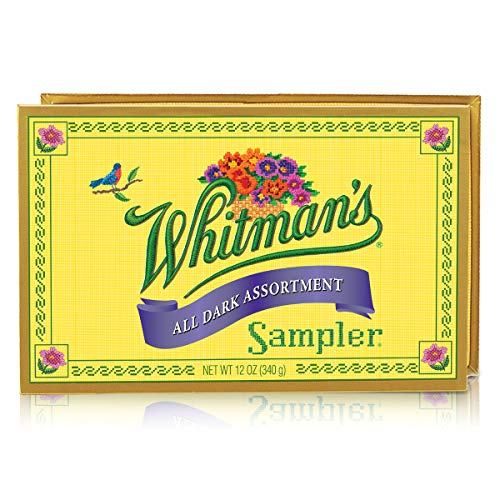 Whitman's Sampler Dark Chocolate Assorted 12 Ounce Boxes (Pack of 3) Whitman's Sampler Dark Chocolate Candy Assortment Box; A Variety of Nutty, Chewy, Creamy,   Crispy Dark Chocolate Covered Candies