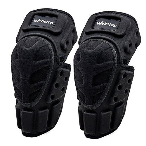 Webetop Motorcycle Knee Pads Adult 1 Pair High-Impact Shield-Resistance Flexible Breathable Adjustable Aramid Fiber +EVA Motocross MTB Shin Guards for Riding Cycling Skating