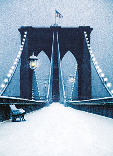 Brooklyn Bridge in Snow New York City Christmas Holiday Boxed Cards Set of 12 Cards and 12 Envelopes. Made in ()