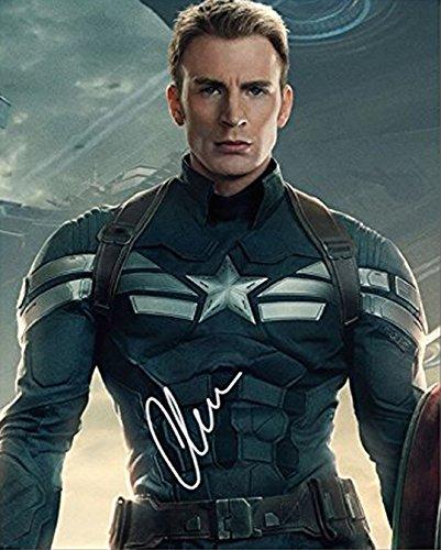 CHRIS EVANS - Reprint 8x10 inch Photograph - Marvel Captain America Avengers