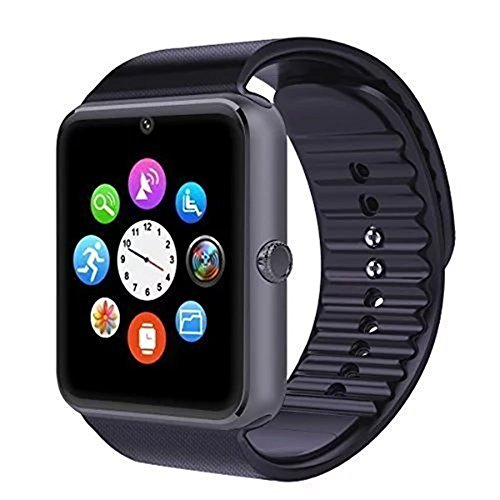 Bluetooth Smart Watch with Camera Support TF Card for Android Phone ()