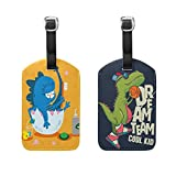 ALAZA Animal Dinosaur Pack Baggage Suitcase Bag Luggage Tags Travel Accessories