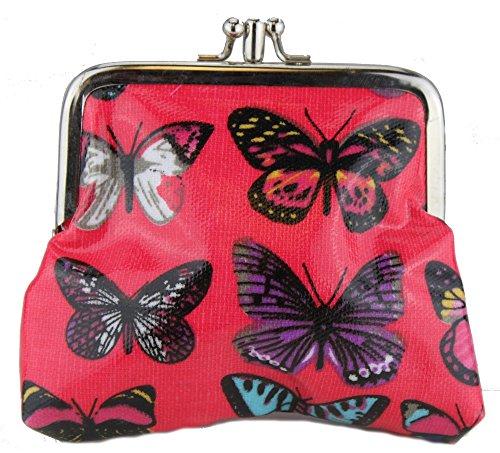Miss Lulu - Cartera de mano para mujer Butterfly Plum